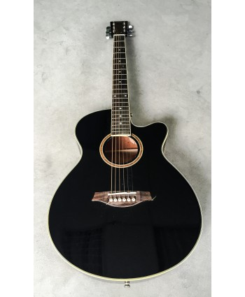 ARTIST ACOUSTIC GUITAR W/CUTAWAY BLACK