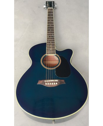ARTIST ACOUSTIC GUITAR W/CUTAWAY GREENISH BLUE