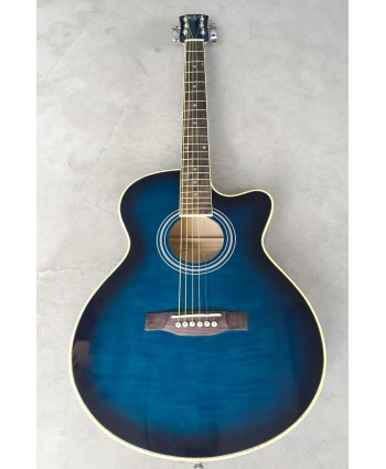 AXE ACOUSTIC GUITAR W/CUTAWAY BLUE BURST