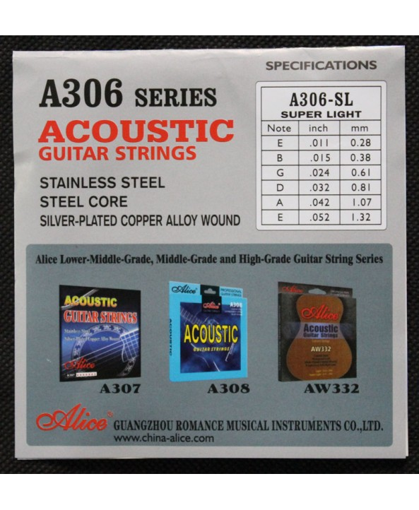 ALICE A306 ACOUSTIC GUITAR STRINGS